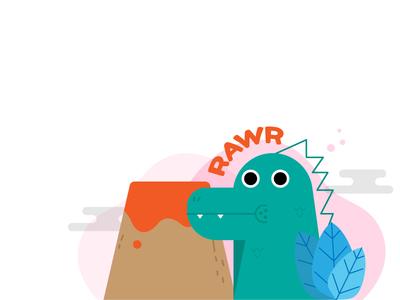 Patrick card vector illustration card dinosaur