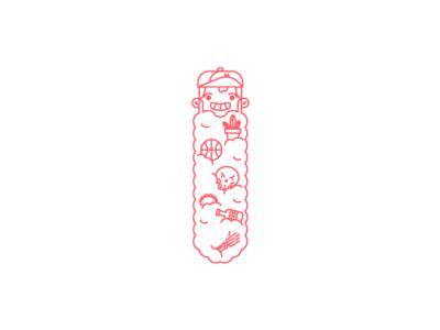 la barba magica. beards bearded mexico guadalajara red line icon magic vectorart illustration beard
