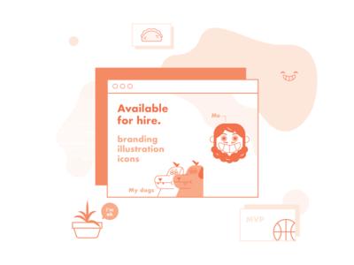 Available for hire freelance illustrator freelance designer illustrator mexico hire work vector freelancer illustration icon freelance avaible for hire