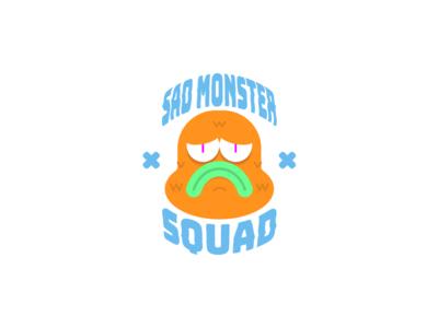 sad monsters characterdesign guadalajara sad vector illustration vectorart illustration monster