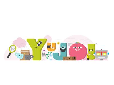 Yujo - Do Epic shit. office plant robot shit epic o j u y vectors vectorart characterdesign type gdl yujo illustration illustrator