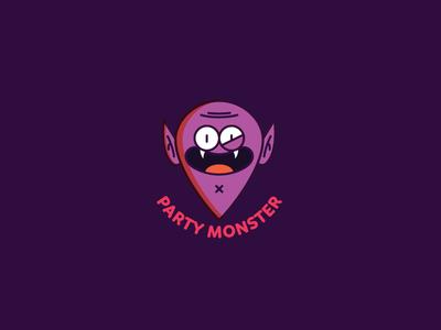 Party Monster character design halloween vampires mexico badge illustration vampire monster