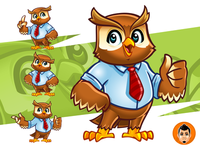Friendly Owl Mascot illustration owl vector design adorable approachable character mascot cute happy friendly