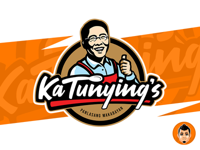 Ka Tunying Restaurant Logo logo restaurant caricature vector approachable character mascot happy friendly