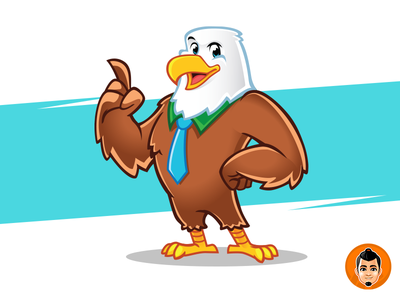 Eagle Mascot friendly character mascot eagle