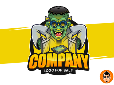 Mad Scientist - Logo For sale mascot logo scientist mad