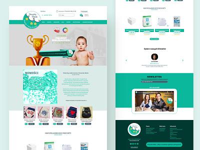 Chmurka Biała Web UI 2020 baby clothes baby ux ui website builder website web webdesign