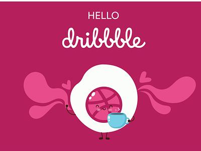 Hello Dribbble! vector firstshot hello world hello dribble minimal design illustration