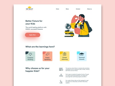 School website figmadesign beginner school website designs ui minimal design