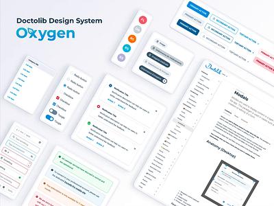 Oxygen Design System ui alert toogle checkbox dropdown input modal buttons avatar chip toast health app healthcare design team guidelines guideline component library component design component design system