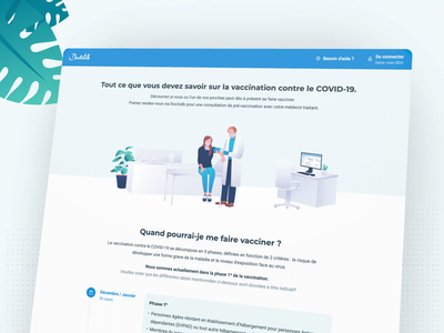 Vaccination landing page 😷 web design webdesign covid19 timeline doctor healthcare medical appointment doctors illustration branding covid-19 covid vaccines character illustration landing page concept landing pages landing