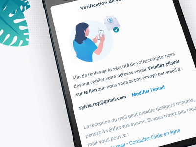 Email verification 💌 character illustration branding medical app verified verification code mobile app design email verification character illustration modal drawer mobile app brand design product design security verification email