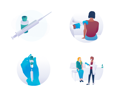 Vaccination illustrations syringe woman branding medecine character illustration illustration coronavirus covid vaccination doctor app doctors nurse drug medical doctor healthcare covid-19 covid19 vaccine