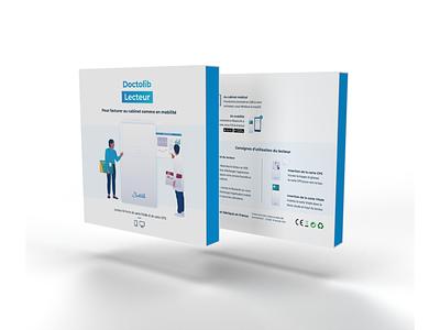 Doctolib Lecteur logo welcome kit health app 3d modeling 3d object packaging design kit package character illustration healthcare branding illustration hardware packaging