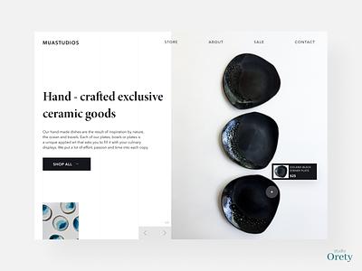 Exclusive ceramic - minimal concept ceramictiles productdesign design website interiordesign accesories store home page product page minimalism minimalist minimal dailyui webdesign product online shop ecommerce ceramics ceramic