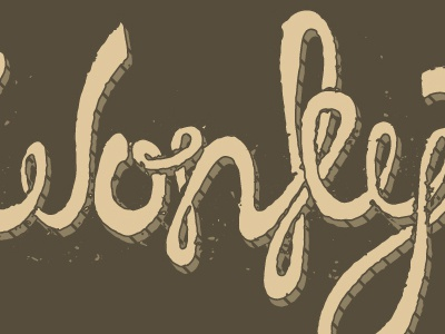 Wonky typography hand drawn wonky brown tan