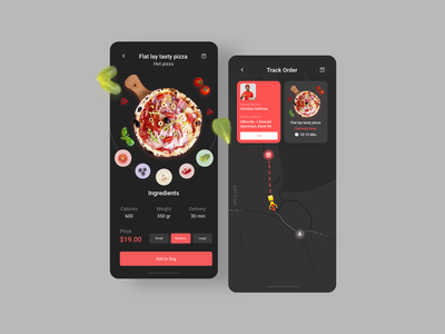 Food delivery app uidesign color palette business vector design freelance mobile application mobile design mobile ui pizza app pizza food delivery app delivery app food app