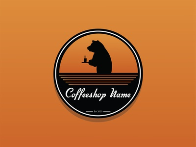 Coffeeshop logo illustrator minimal design vector logodesign illustration branding bear coffeelogo logos logo coffeeshop coffee