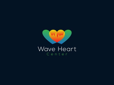 Wave Heart Center logo  Medical logo  Clinic logo minimalist logo modern logo logotype doctor medicine health care health heart logomaker logoinspiration logomark branding logos creative logo logodesigner logodesign logo clinic logo medical logo wave heart center logo