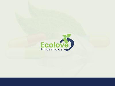 Pharmacy Logo, Ecolove pharmacy logo ecolove pharmacy logo logo modern logo logotype logomaker logoinspiration logomark logos branding logodesigner creative logo logodesign