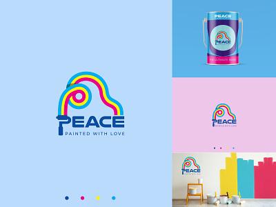 Peace paint, Paint company logo, Modern logo best logo minimalist logo modern logo logo logos logomark logodesigner branding logodesign creative logo paint brand logo paint company logo peace paint logo peace logo paint logo paint