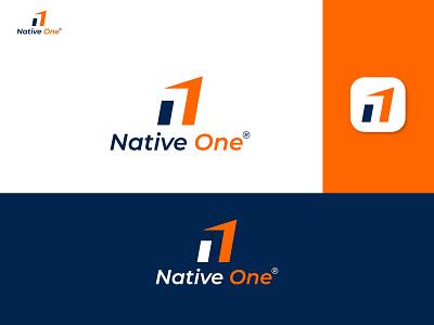 Modern minimalist logo, Native One Logo, N Logo modern logo flat logo minimal logo design logo logos logomark logodesigner branding logodesign creative logo modern minimalist logo n1 logo n letter logo native one logo