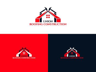 Roofing logo, Union Roofing Construction custom logo minimal union roofing construction roofing logo branding design logos logomark logodesigner branding logodesign creative logo construction logo logo roofing logo