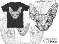 Sphinx Cat T-Shirt Design