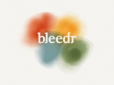 bleedr - Logo logo identity app color simplicity paper