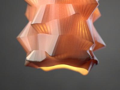 polylight lamp cg light orange design product design cinema4d study