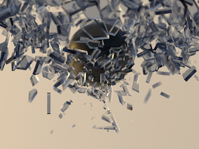 Shattttttter cinema4d render dof test animation slow motion