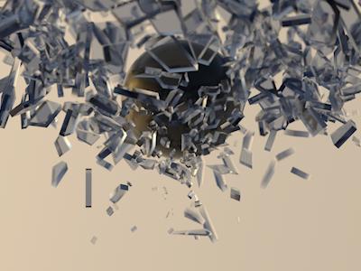 Shattttttter cinema4d render dof test animation slow motion
