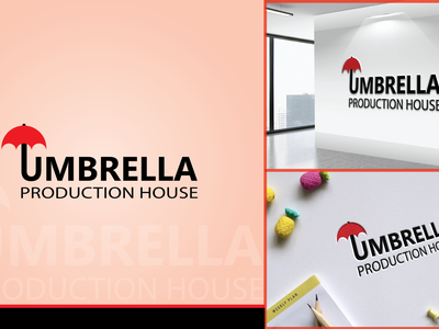 Umbrella Production House brand identity logotype logodesign brand logo logo