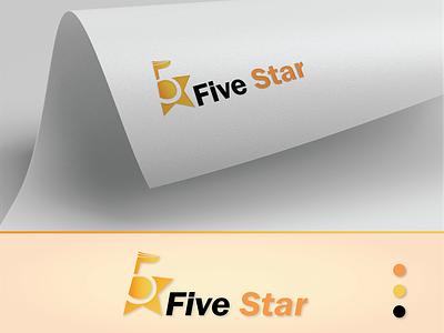 Five Star Logo logo design branding mockup vector illustration vectorart vector logo animation logodesign five star five logotype logo