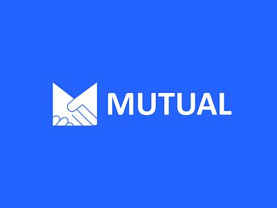 Mutual Logo logo 2021 blue atik handshake hand mutual logo mutual 2020 atik chowdhury 2020 new logo creative logo abastact best logo logotype new logo logo design logo animation brand logo logodesign
