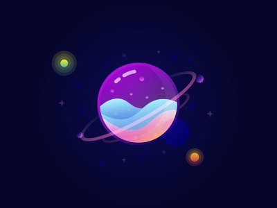 Univers Glass illustration gif animated creative animation design adobe xd space water animation vector inspirations logo design adobe illustrator draw beauty dreams colorfull univers illustration art