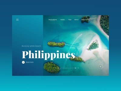 Travel Website Advanced UI Motion Design philippines inspiration typography landingpage website web ux ui invision studio motion interface transition interaction exploration paradise travel concept webdesign design animation