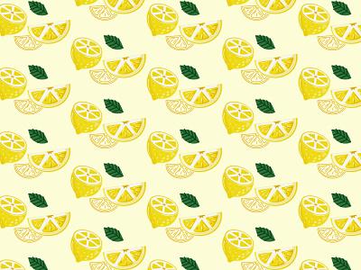 lemon illustration artwork fabric pattern fabric design pattern