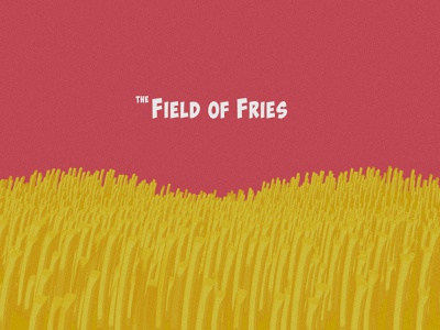 The Field of Fries food burgers fries mcdonalds digital design dribbbleweeklywarmup