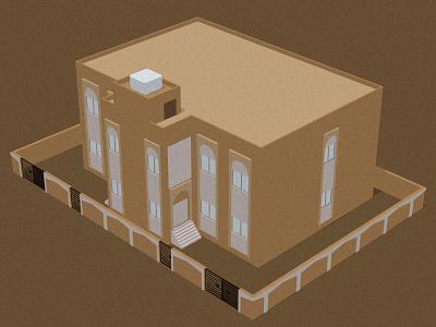 Only Yesterday 3dart architecture city buildings landscape oman blender3d illustration dribbbleweeklywarmup digital design