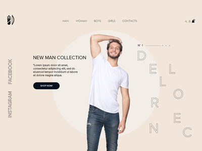 E-commerce redesign concept 2020 behance brand web uidesign webdesign ux ui store prototype e-comerce