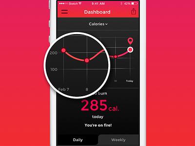 Activity Monitor Concept app application flat interface ui ios concept