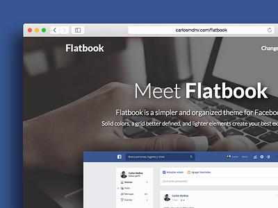 Flatbook | Facebook theme facebook flat layout minimal redesign ui web clear