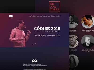 Códise 2015 Landing Page web responsive landing page homepage header gradient flat design css cover clean background