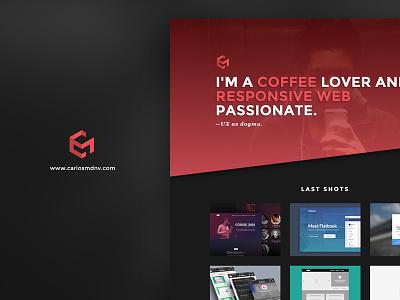 Personal portfolio site website responsive portfolio landing identity homepage header cover brand background