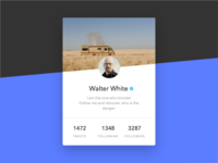 Daily UI - Day 003: Twitter Profile Card