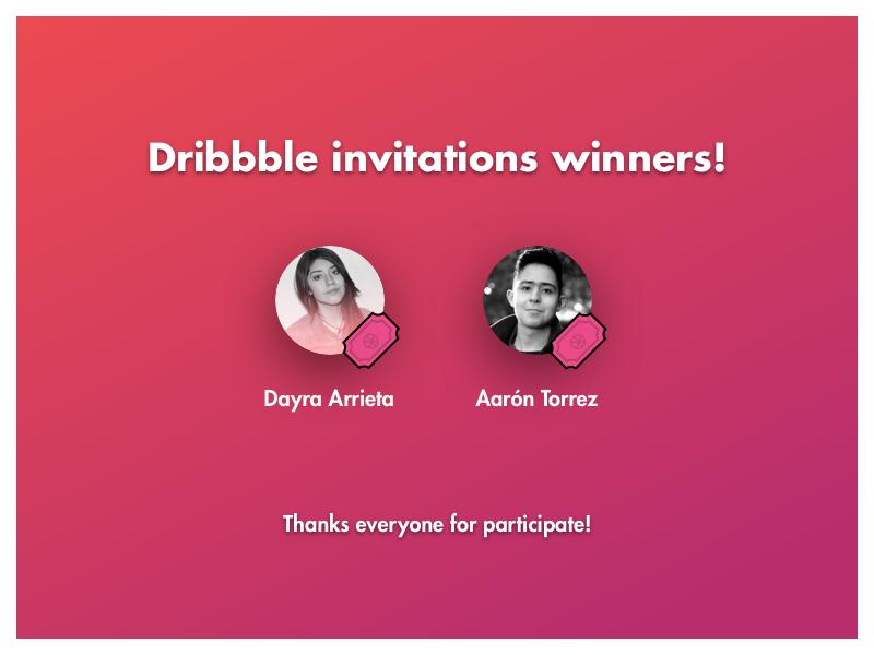Dribbble Invitations Winners! invitation invite dribbble
