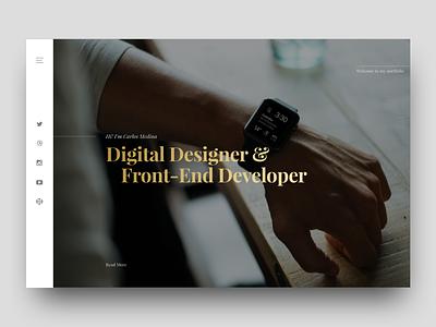 Personal Portfolio Website - Sneak Peek sketch homepage type portfolio website background