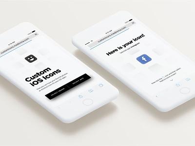 Custom iOS Icons webapp app icon ios custom