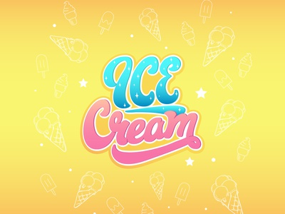 icecream vector inscription lettering icecream illustration ice